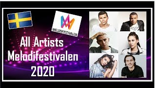 Cover images Melodifestivalen 2020   All Artists   Get to Know the Artists