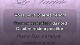"""Francis cabrel  """" octobre """" Karaoké"""