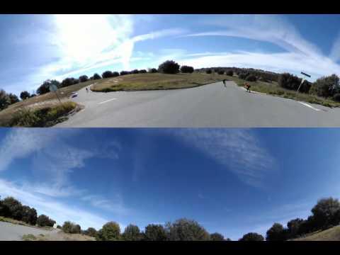 2015.01.25 - Sugar Loaf Downhill Skateboarding (Run 1 of 2) - V.360 Camera Test