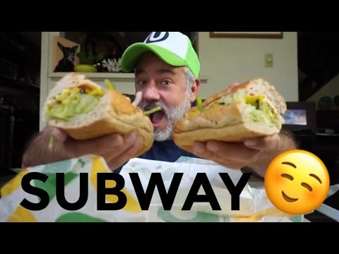 SUBWAY MUKBANG EATING SHOW PICNIC W/ EXTRAS!