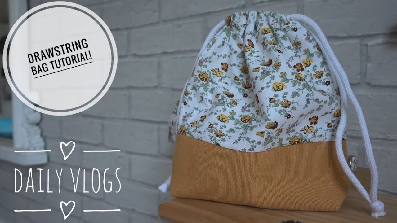 Daily Vlogs - How to Sew a Simple Drawstring Bag - Tuesday 28th April 2020