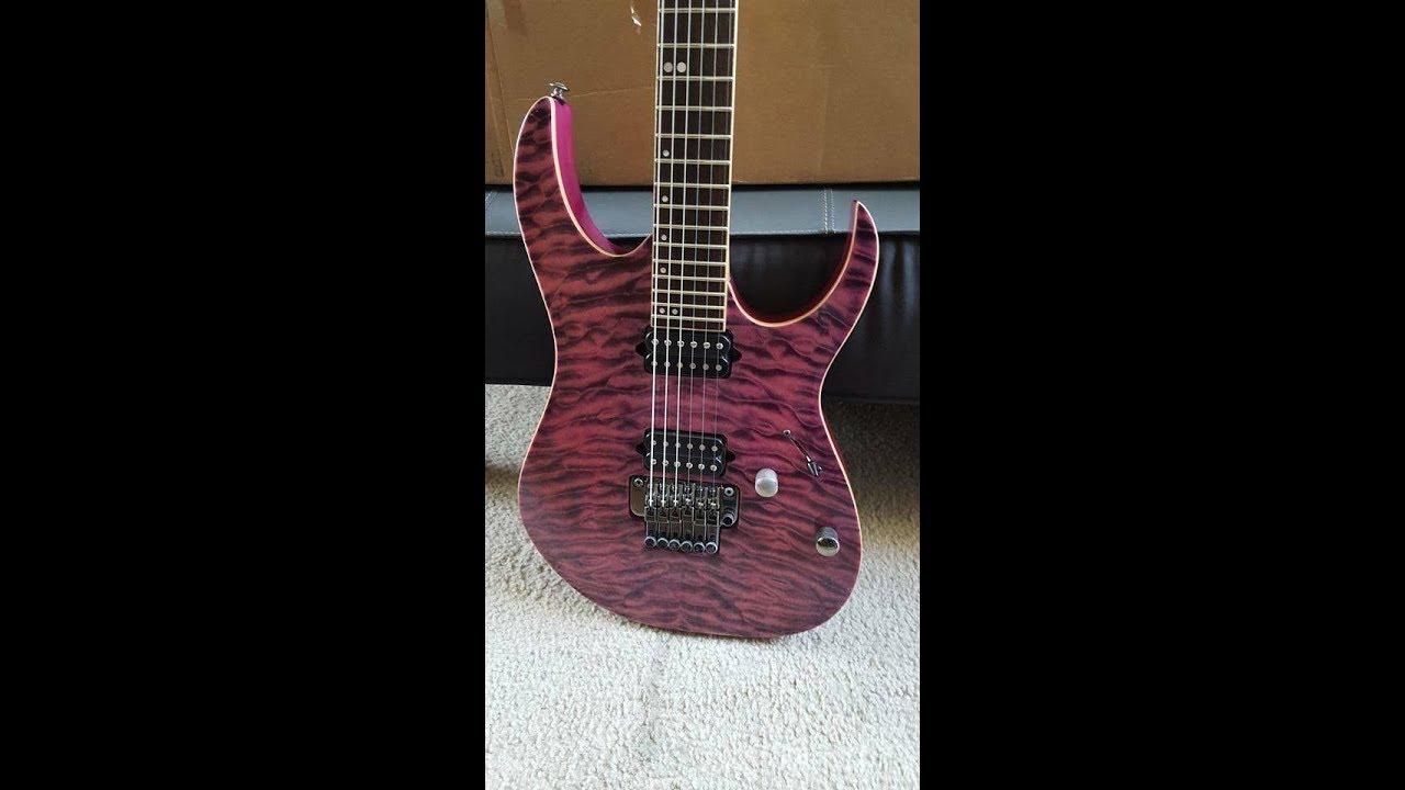 Ibanez Rg920QMZ High Voltage Violet Premium Electric Guitar Demo