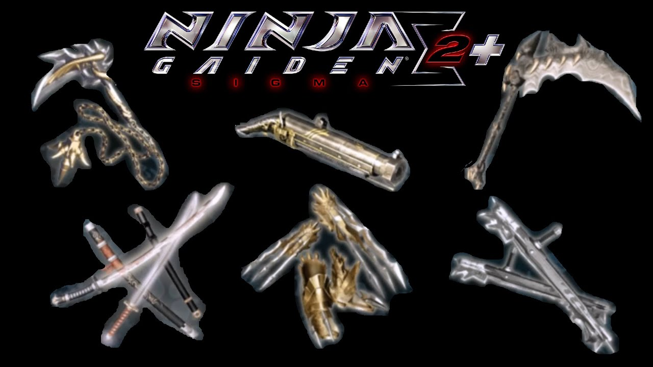 Ninja Gaiden Sigma Ii Plus All Ryu Weapons Youtube