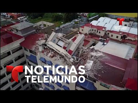 Imágenes aéreas de la destrucción en Morelos   Noticias   Noticias Telemundo