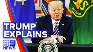 Donald Trump questions cause of California wildfires | 9News Australia