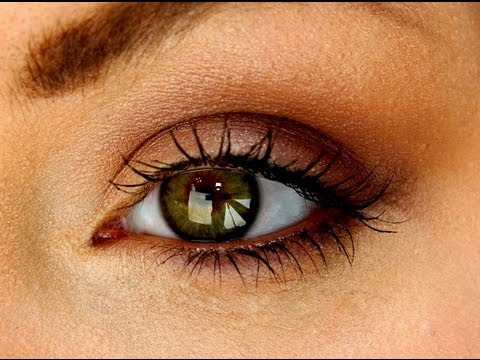 5 Minute Makeup - ♥ Warm Brown Neutral Eye Tutorial ♥ - YouTube