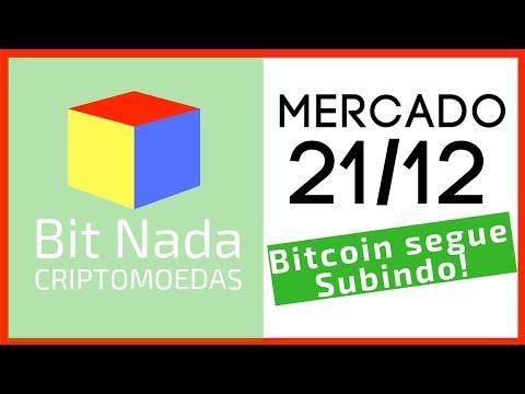 Mercado de Cripto! 21/12 Bitcoin segue SUBINDO! / Eleição em Blockchain / BitcoinTrade