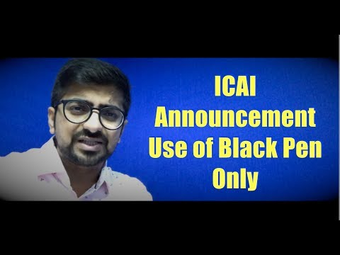 ICAI Announcement. Use black pen only.