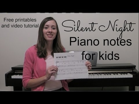 Silent Night Piano Notes For Kids Youtube