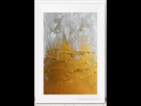 How to Paint Impasto Acrylics Art Tutorial - FROSTED GOLD - Modern Abstract