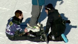 Repeat youtube video Shaun White Crash SNB Slope Olympic Qualifier #3 - U.S. Snowboarding