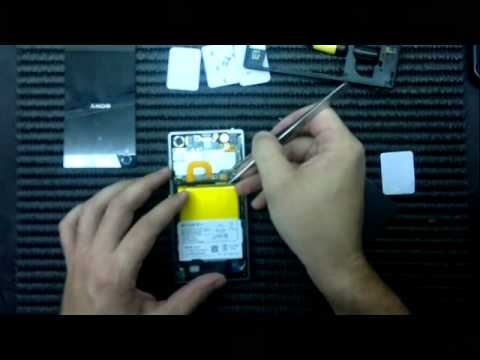 Sony Xperia Z1 como abir, troca do touch desmontagem LCD Screen Replacement