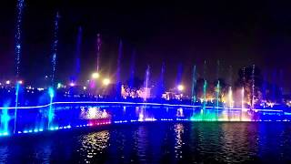 Dancing fountain on National Anthem ][ Lahore Dancing Fountains ][ Greter Iqbal Park ][ Lahore
