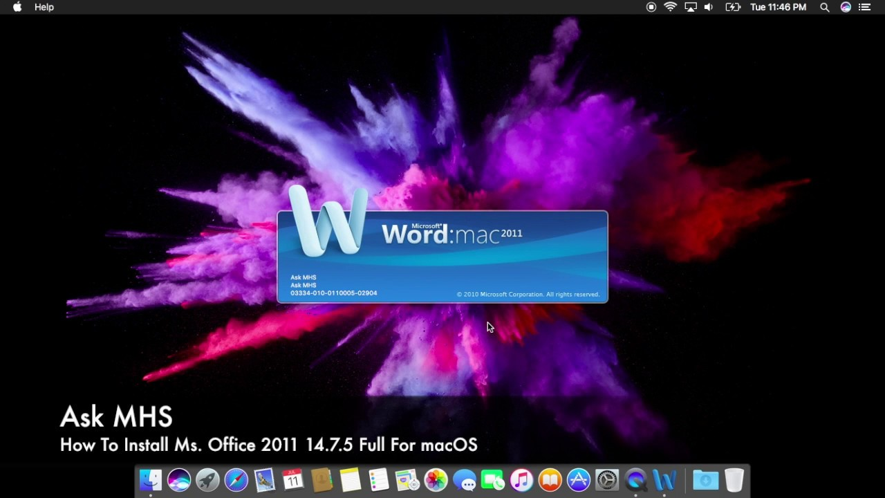 How To Install Microsoft Office 2011 14.7.5 Full For macOS
