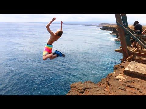 HAWAII CLIFF JUMPING 2016