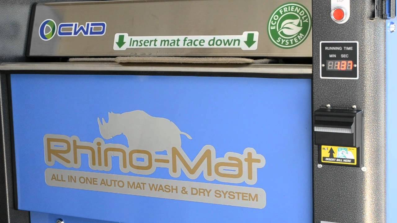 Rhino Mat The Best Car Mat Cleaning Machine Youtube