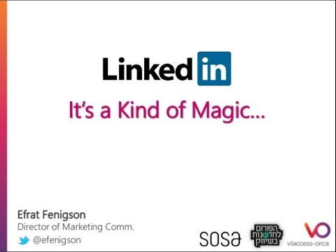 What's the Magic in LinkedIn - Innovation in Marketing Forum [Hebrew]