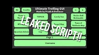 Roblox *Ultimate Trolling Gui*