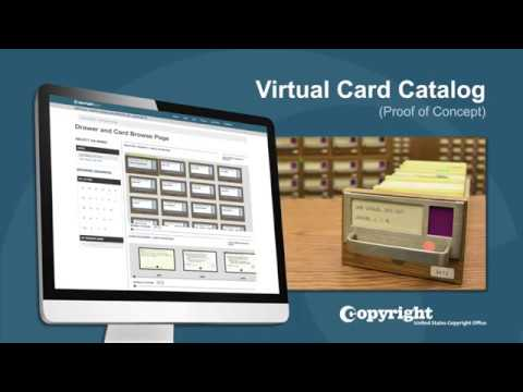 Virtual Card Catalog: Demonstration (Updated July 2018)