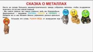 № 258. Неорганическая химия. Тема 32. Общие свойства металлов. Часть 2. Сказка