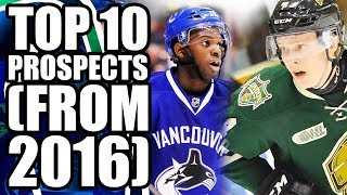 Top 10 Vancouver Canucks Prospects (Two Years Ago) - The Hockey News Article Published Pre 2016-2017