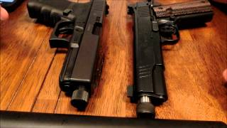 The quieter host? Glock 21 vs 1911