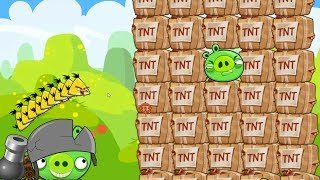 Angry Birds Collection Cannon 1 - SHOOT MAXIMUM CHUCK TO BLAST HUGE PIG WITH TNT!
