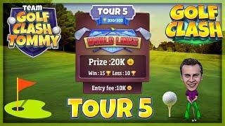 Golf Clash tips, Hole 9 - Par 5, Greenoch Point - World Links, Tour 5 - GUIDE/TUTORIAL