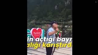 Trabzonda Kürdistan bayrağı açan adamın feci sonu