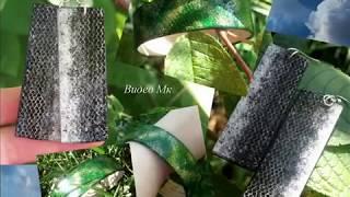 Видео Мастер класс Имитация кожи на украшениях