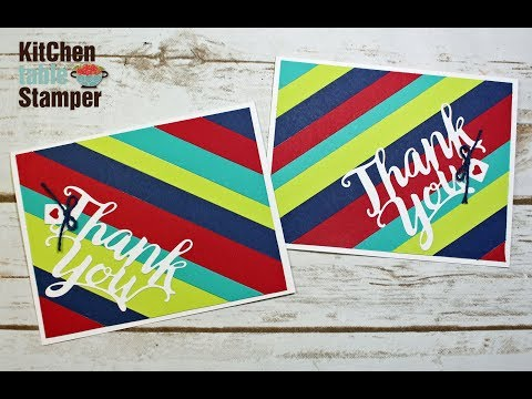 Stampin' Up! Thank You Thinlits Scrap Buster Card Making Video Tutorial with Kitchen Table Stamper