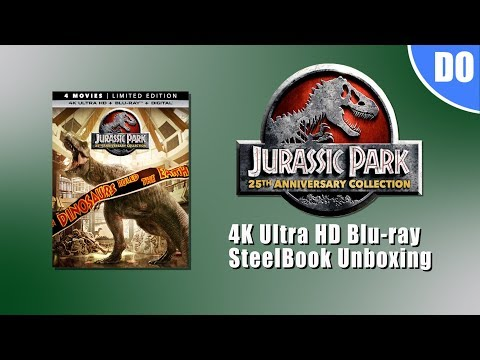 Jurassic Park Collection 4K Ultra HD Blu ray SteelBook Unboxing   Best Buy Exclusive