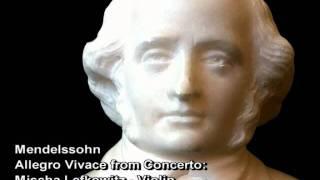 Mendelssohn  Violin Concerto III.Allegro  Mischa Lefkowitz   vln