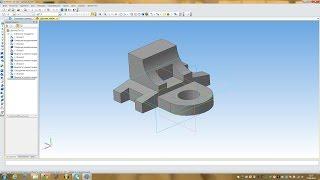 Компас 3D уроки  - пример построения простой детали № 3