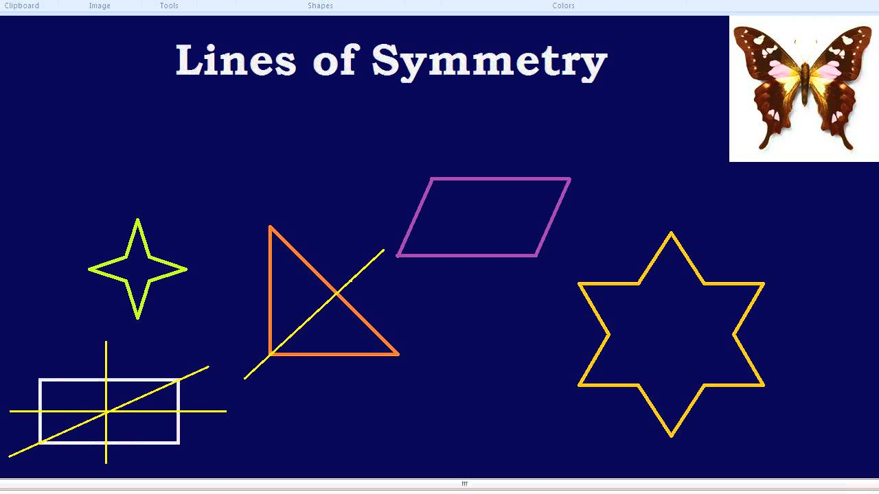 Drawing Lines Of Symmetry : Lines of symmetry youtube
