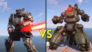 Fallout 4 - 50 Brotherhood of Steel VS 25 Sentry Bots - Battles #7
