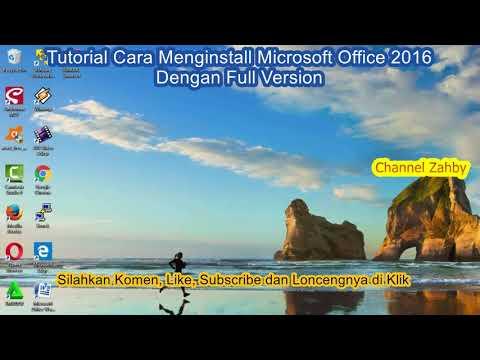 Tutorial Cara Install Microsoft Office 2016 Dengan Full Version