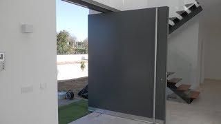 WOODMAN: How to make pivot entry door / Маятниковая входная дверь.