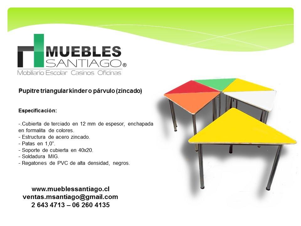 pupitre triangular k nder o p rvulo zincado mobiliario