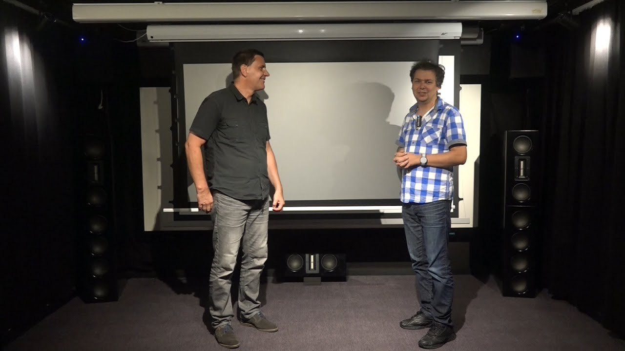 test elite screens saker cinegrey 5d heimkino leinwand youtube. Black Bedroom Furniture Sets. Home Design Ideas