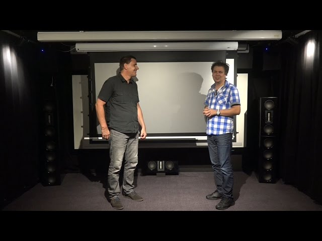 Test Elite Screens Saker CineGrey 5D Heimkino Leinwand