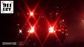 Nashua Fire Rescue Ladder 1 and Engine 1 Responding