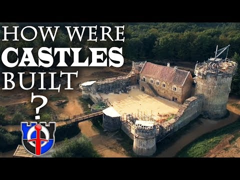 How were castles built / constructed in the medieval period?