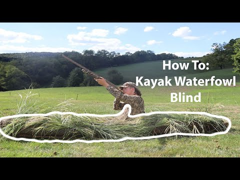 How To Build Your Own KAYAK WATERFOWL BLIND