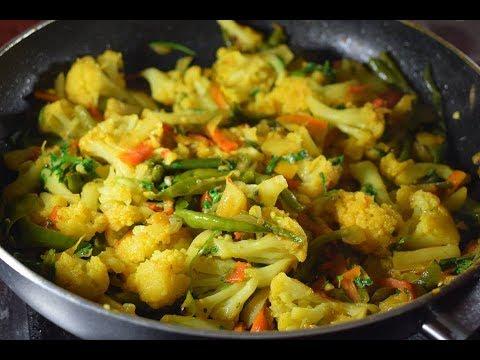 Mixed Vegetables Recipe Cauliflower, Potatoes, Carrots