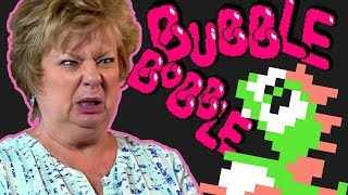 Moms Play BUBBLE BOBBLE!