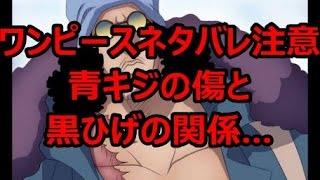 【ワンピースネタバレ注意!】青キジの傷と黒ひげの関係… thumbnail