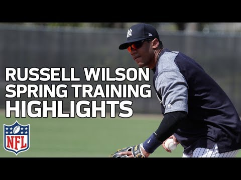 Russell Wilson Spring Training Highlights with Yankees | NFL