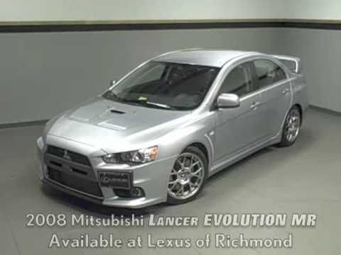 2008 Mitsubishi Lancer Evolution MR Available at  Lexus of Richmond