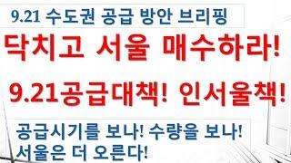 921공급대책브리핑!서울 상승은 계속된다! 인서울 하라!-부동산,재테크